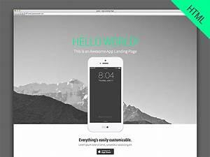 Landy HTML5 Parallax App Landing Page Freebiesbug