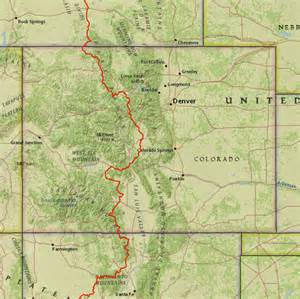 Continental Divide Trail Colorado Map