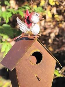 Vogelhaus Zum Hängen : hohes vogelhaus zum h ngen aus metall in rostoptik angels garden dekoshop ~ Orissabook.com Haus und Dekorationen