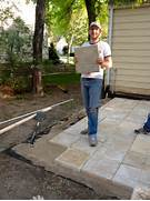 Adding Pavers To Concrete Patio Decorate Bring On The Yardwork Part 1 Installing A Paver Patio