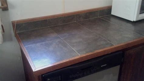 tile top kitchen island tile counter top on kitchen island doityourself 6186
