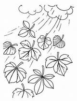 Coloring Wind Weather Chimes Template Preschool Colouring Rain Umbrella sketch template
