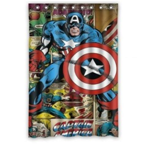 captain america curtains captain america shower curtain collection