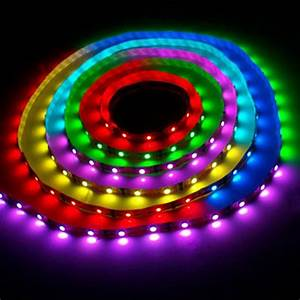 Led Strips Rgb : 5m rgb led strip with power adapter and ir remote ~ Frokenaadalensverden.com Haus und Dekorationen