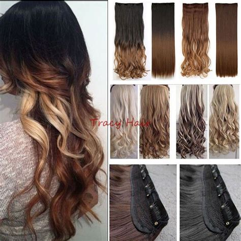 Natural As Human Hair Extensions Ombre Full Head Clip In