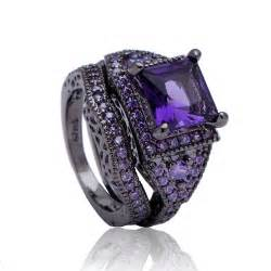 black and purple wedding rings aliexpress buy vintage jewelry 2017 synthetic purple ring purple cz zircon black