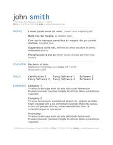 free resume format download free resume templates 50 free microsoft word resume templates for download