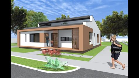 Small modern bungalow house design 133 square meters
