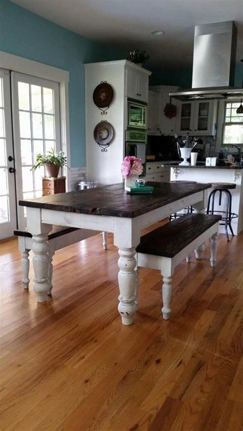 antique heart pine rustic distressed  foot farmhouse table