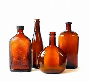 Instant, Collection, Antique, Amber, Bottles