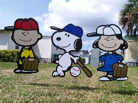 charlie brown gang outdoor garden outdoor brown and lawn snoopy yard trio decor combo ebay