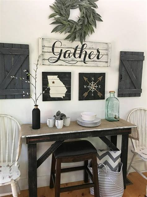 GATHER SIGN 5 piece SET Rustic Gallery Wall Set Rustic in