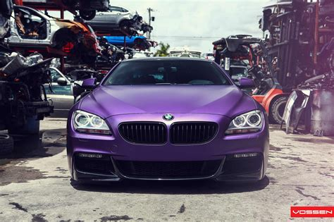 frozen purple bmw  series coupe  photo shoot