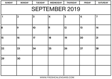 september calendar printable fresh calendars