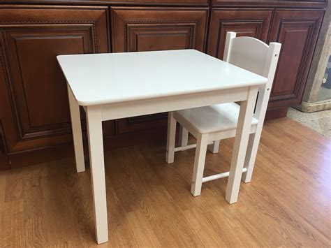 wooden table and 2 chairs set solid wood sturdy