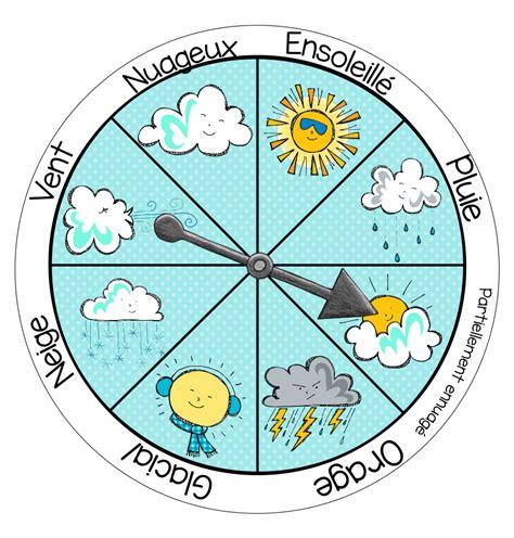 foto de Roulette météo Météo maternelle Calendrier enfant