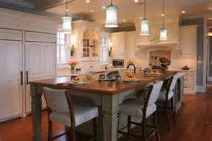 Kitchen Island With Table Seating 30 Kitchen Islands With Tables A Simple But Clever Combo
