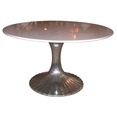 round marble table base round aluminum base dining table with white granite top at