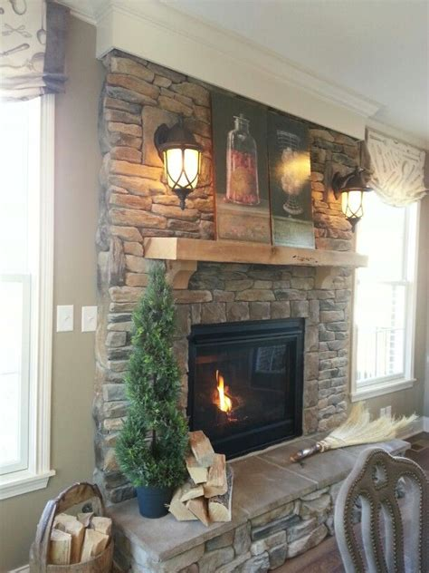 stacked for fireplace stacked stone fireplace home ideas pinterest