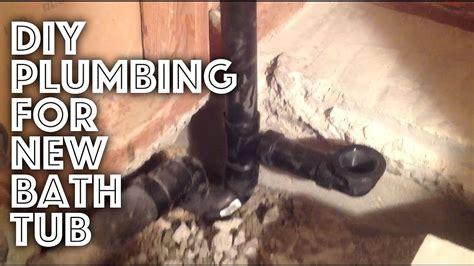 bathtub plumbing  installation youtube