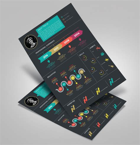creative infographic resume design template  cover