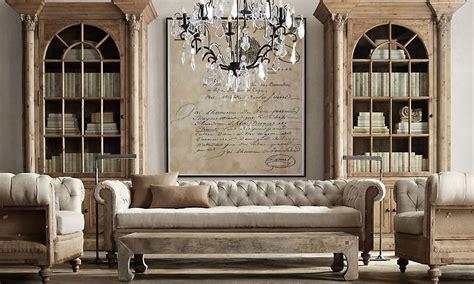 restoration hardware chesterfield sofa rooms restoration hardware