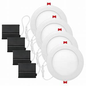 Led integrated ultra slim recessed lighting kit pack