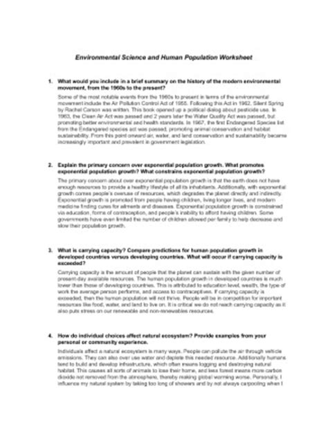 sci 256 week 1 environmental science and human population