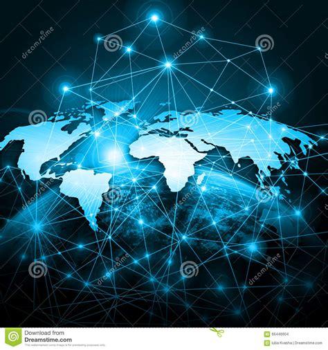 Meilleur Fond D écran Du Monde Carte Du Monde Sur Un Fond Technologique Le Meilleur Concept D Des Affaires Globales