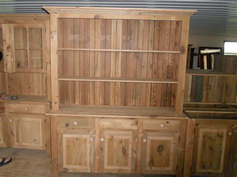 unfinished furniture hutch reclaimed barn wood unfinished china cabinet with open