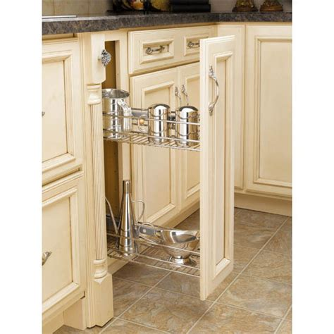 kitchen cabinet side shelves side mount kitchen base cabinet pull out organizers by rev 5765