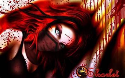 Mortal Kombat Skarlet Wallpapers Hair Warrior Eyes