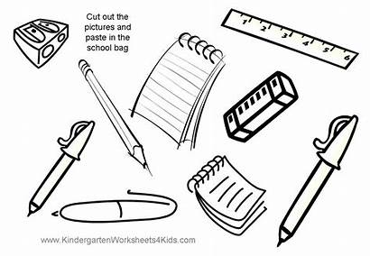 Paste Worksheets Cut Activities Coloring Pages Bag