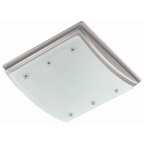 Exhaust Fans For Bathroom Windows by Shop Harbor Breeze 2 Sone 100 Cfm Nickel Bathroom Fan With