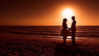Romantic Couple Sunset Heart During Wallpapers