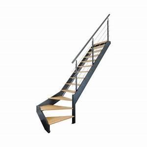 Escalier 1 4 Tournant Droit : escalier 1 4 tournant droit spark led castorama ~ Dallasstarsshop.com Idées de Décoration