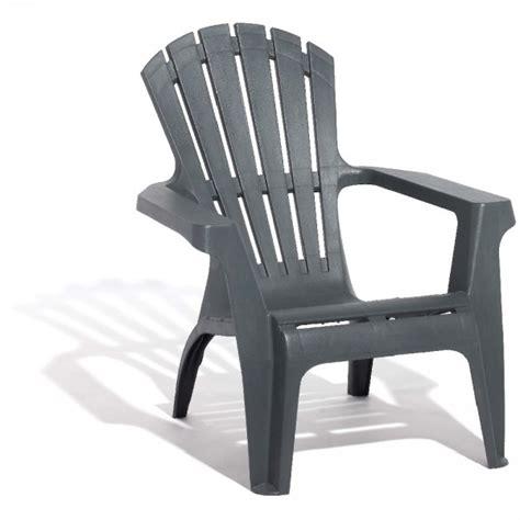 gifi chaise de jardin fauteuil de jardin plastique gris anthracite table