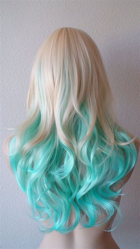 Blonde Mintteal Color Wig Wig Hair Haircolor Scene