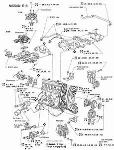 Motor Nissan E16i  1