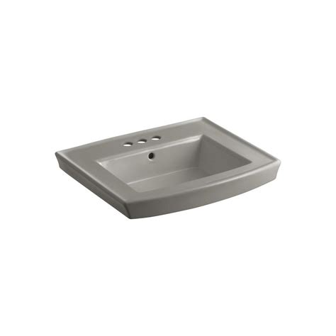 kohler archer 4 in vitreous china pedestal sink basin in