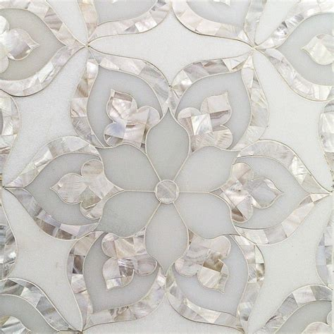 aurora marble pearl tile