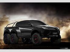 Lamborghini Urus 6x6 Pickup and Production Model Rendered