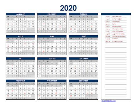 ireland yearly excel calendar  printable templates