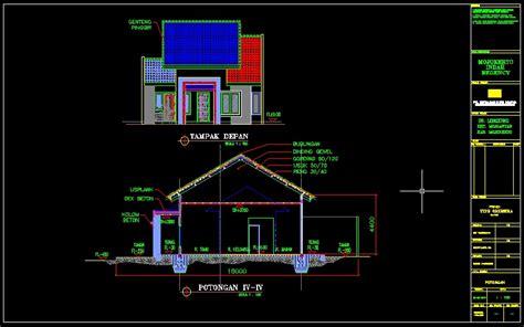 desain denah rumah autocad contoh sur