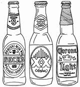 Beer Bottle Drawing Line Coloring Pages Drawings Bottles Alcohol Printable Svg Tattoo Google Getdrawings Drawn Printables Projects Expressions Carafe Carving sketch template