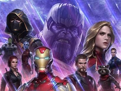 Marvel Avengers Fight Future Wallpapers Endgame Games