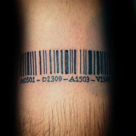 barcode tattoo designs  men parallel  ink ideas