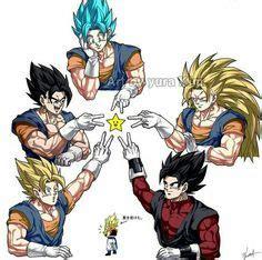 Tags Anime Pixiv Id 9040790 Z Gogeta Vegito Gotenks And Gohan Anime