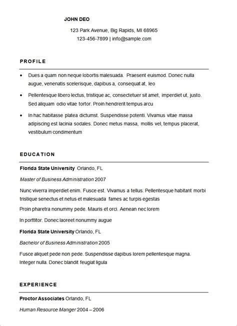 17007 free basic resume template basic sle resume jennywashere