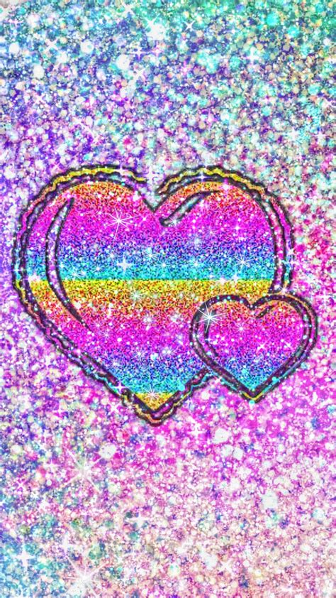 Cute wallpaper for phone heart wallpaper love wallpaper colorful wallpaper chevron wallpaper computer wallpaper pretty desktop backgrounds tumblr backgrounds cute wallpapers. Rainbow Glittery Hearts, made by me #patterns #colorful #glitter #galaxy #wallpapers # ...